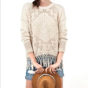 Fall Fringe cotton sweater